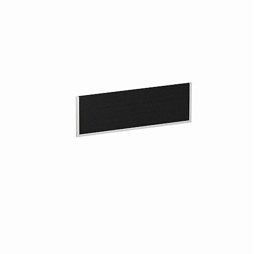 1200x400mm Office Desk Mounted Screen Black with White Frame