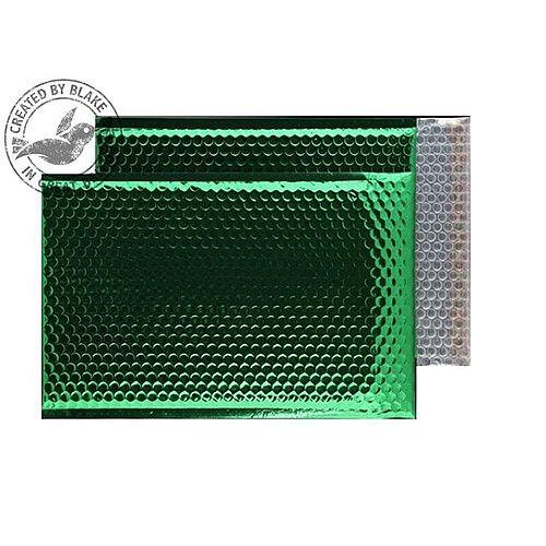 Purely Packaging Bubble Envelope P&S C4 Metallic EmGreen Ref MBGRE324 [Pk 100]