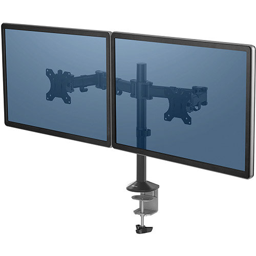 Fellowes Reflex Series Dual Monitor Arm Ref 8502601 (REDEMPTION) Jan-Mar20