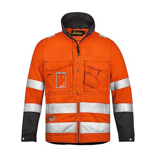 Snickers 1633 High-Vis Jacket Orange Class 3 Size L Regular