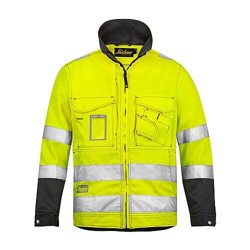 Snickers 1633 High-Vis Jacket Yellow Class 3 Size XS Regular