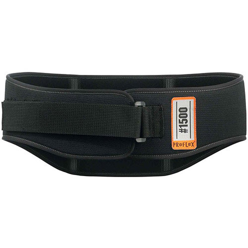 Ergodyne ProFlex 1500 Weight Lifters Style Large Back Support Belt Black