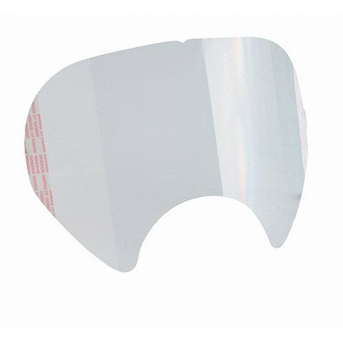 3M 6885 Peel Off Visor Covers White Pack 25