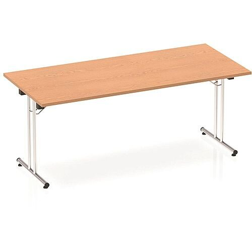 Rectangular Folding Table Oak W1800xD800mm