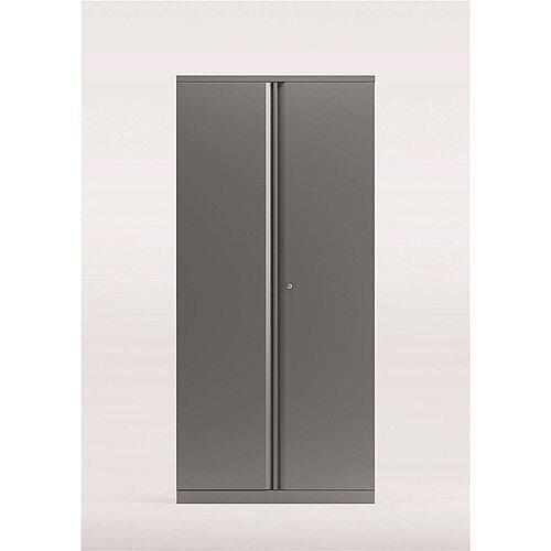 Bisley Two Door Steel Storage Cupboard High 1970mm Cupboard Silver