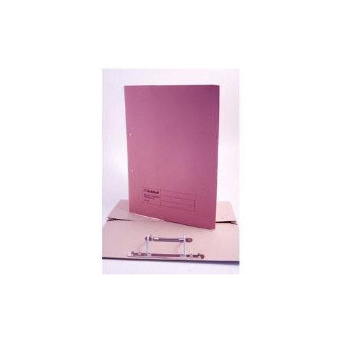 Guildhall Foolscap 420g/m2 35mm Spine Super Heavyweight Manilla Pocket Spiral File Pink