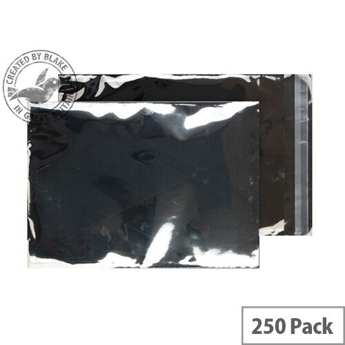 Purely Packaging C4 Foil Pocket 70 Mic Metallic Silver Protective Envelopes Pack 250