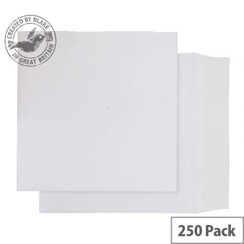 Purely Packaging White Envelopes Card Peel and Seal 210gsm 220x220mm (Pack 250)