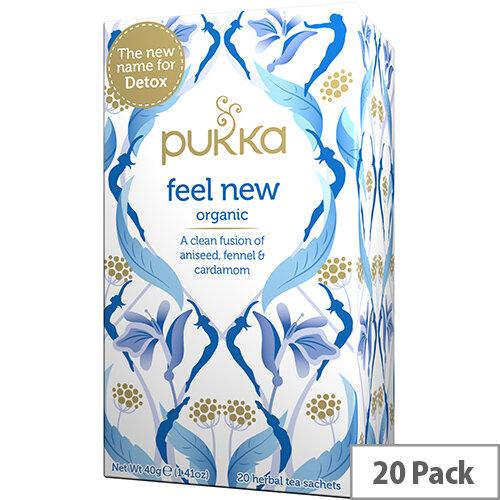 Pukka Feel New Organic Tea Bags (Pack of 20) Ref 45060519144100
