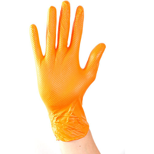 Aurelia Ignite Heavy Duty Nitrile Gloves Large Orange Pack of 100 Ref 97888