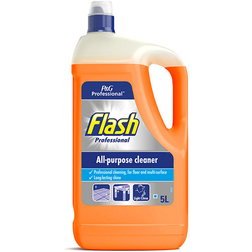 Flash Prof All Purpose Cleaner for Washable Surfaces 5 Litre Citrus Fragrance Ref C001978