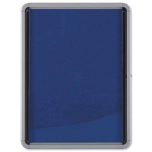 Lockable Fabric Notice Board 6 x A4 Nobo