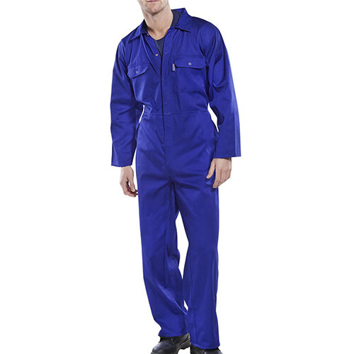 Click Workwear Regular Boilersuit Work Overall Size 40 Royal Blue Ref RPCBSR40