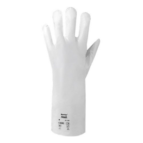 Ansell Barrier Size 7 Chemical Resistant Work Gloves White
