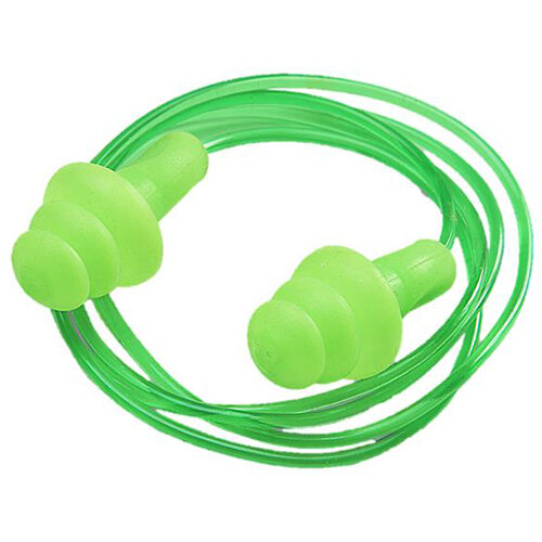 BBrand Corded Easy Fit Ear Plugs Green Ref BBEP25C