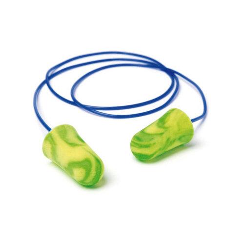 Moldex 6900 Pura-Fit Corded Earplugs PU Foam Green/Yellow Ref M6900 [Packed 200]