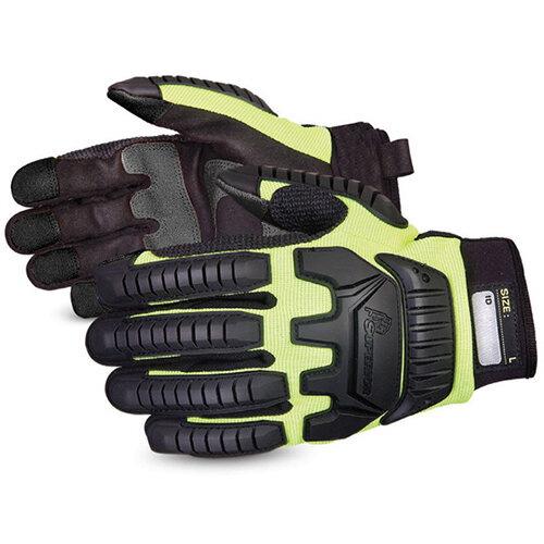 Superior Glove Clutch Gear Impact Protection Mechanics M Yellow Ref SUMXVSBM