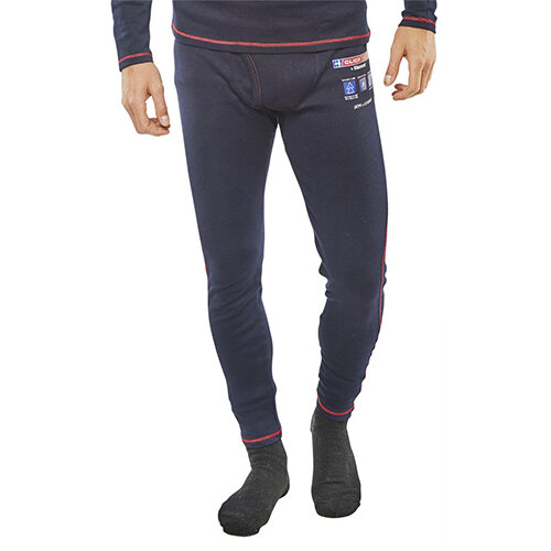 Click Arc Compliant Long John Fire Retardant Base Layer Trousers Size M Navy Blue Ref CARC24M