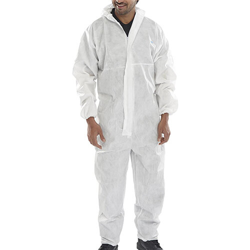 Click Once Disposable Boilersuit Size 2XL White Pack of 50 Ref BCOC10WXXL