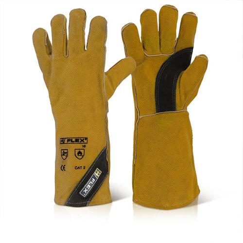 B-Flex Premium Golden Welders Gauntlet Ref BFPGW Pack of 10