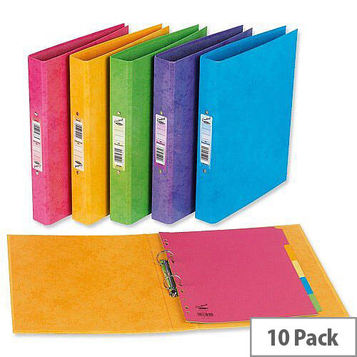 A4 Ring Binder Laminated Bright Blue O-Ring and Dividers Capacity 25mm Pack 10 Concord Contrast