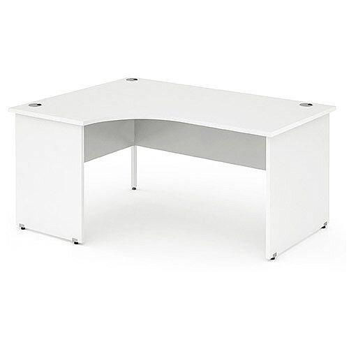L-Shaped Corner Left Hand Panel End Office Desk White W1600mm