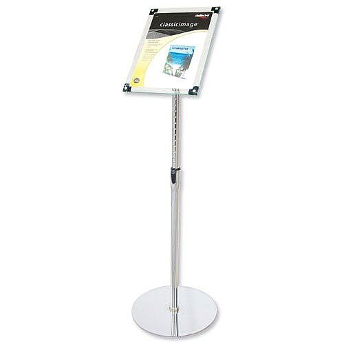 Floor Standing Sign Holder A4 Adjustable Height Deflecto
