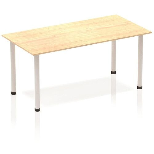 Rectangular Table Maple with Silver Frame 1600x800mm