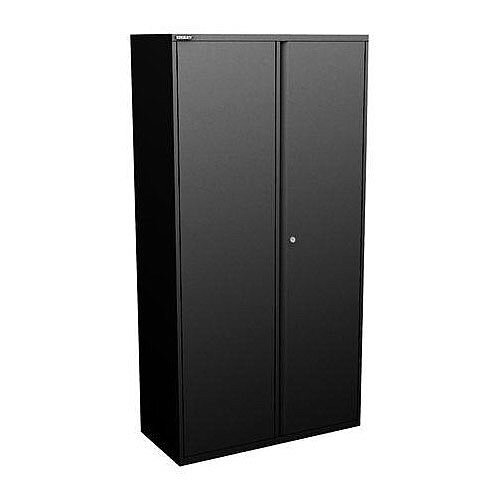 Bisley Two Door Steel Storage Cupboard High 1970mm Cupboard with Shelves Black