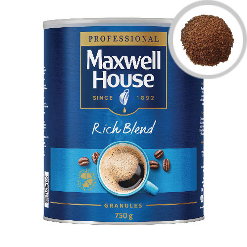 Maxwell House Rich Blend Coffee Instant Granules 750g Tin  Pack of 1 64985