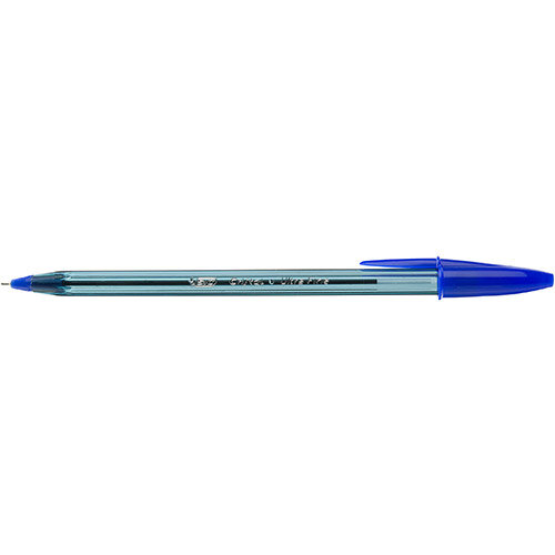 BIC Cristal Exact Ballpoint Pens Ultra Fine 0.7mm Tip Blue Ref 992605 Pack of 20