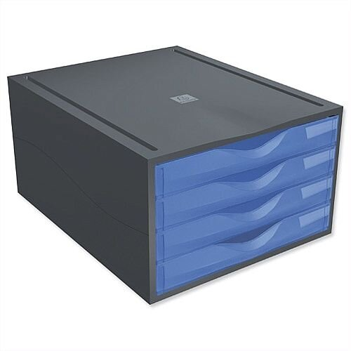 Filing Drawer Set Plastic Robust Stable A4+ Blue Mutiform Polymorf