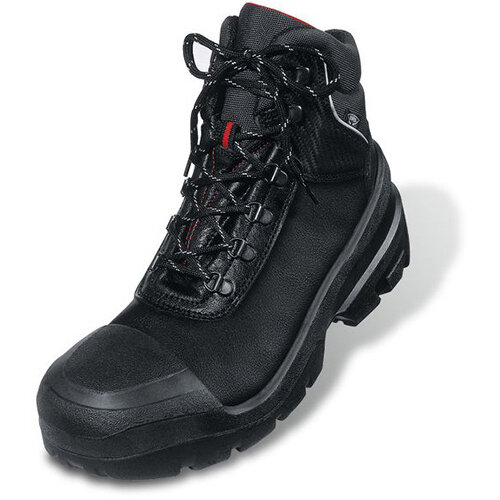 Uvex Quatro Boot Leather Upper PUR Sole Size 8 Wide Fit Black Ref 08/02/8401