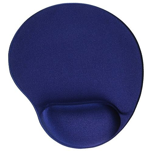 Mouse Mat Ergonomic Non Slip with Gel Wrist Rest Blue CCS55151