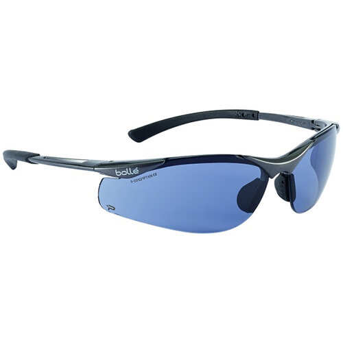 Bolle Contour CONTPSF Safety Glasses Smoke with Platinum Coating Ref BOCONTPSF