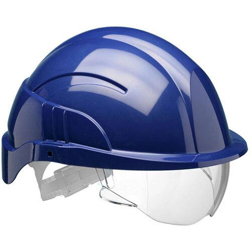 Centurion Vision Plus Safety Helmet Integrated Visor Blue Ref CNS10PLUSEBA