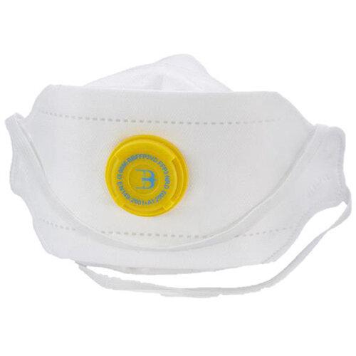 B-Brand P3 Premium Fold-flat Vented Mask Adjustable White Pack of 20 Ref BBFFP3VD