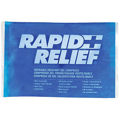Rapid Relief Reusable Hot/Cold Gel Compress C/W Contour Gel 4in x 6in Ref RA12246