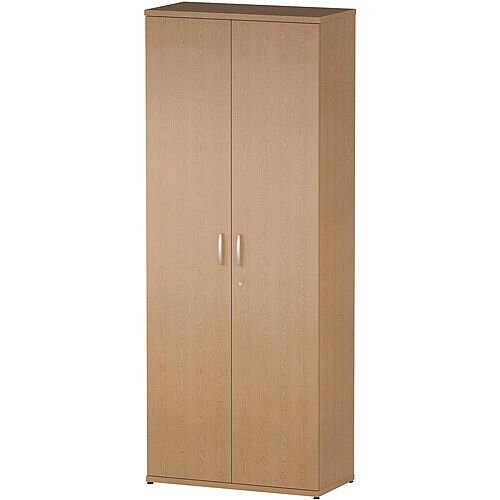 Tall Cupboard With 4 Shelves (5 Shelving Compartments) H2000xD400xW800mm Oak