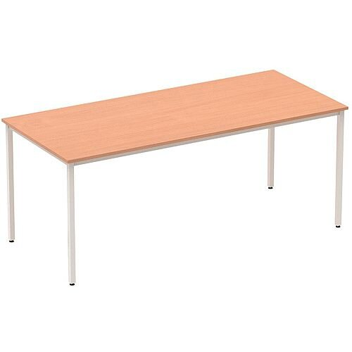 Rectangular Table Beech with Silver Frame 1800x800mm