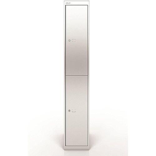 Bisley Steel Locker 457 Two Door Silver
