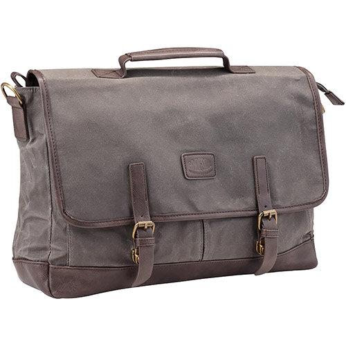 Pride and Soul Vegas 15inch Laptop Briefcase Grey/Brown Ref 47303