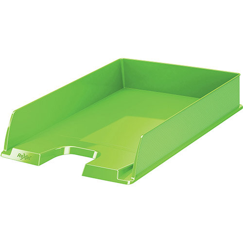 Rexel Choices Letter Tray PP A4 254x350x61mm Green Ref 2115600
