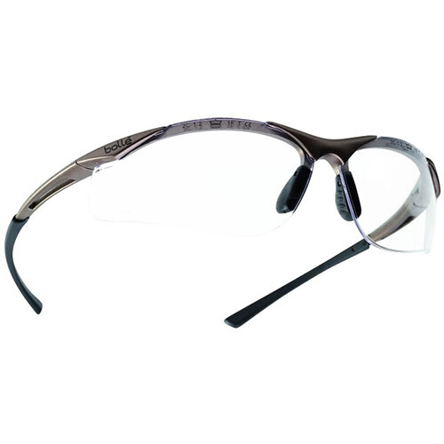 Bolle Contour CONTPSI Safety Glasses Clear with Platinum Coating Ref BOCONTPSI