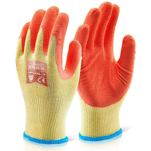 Click2000 Multi-Purpose Work Gloves Size M Orange Pack of 100 Pairs - Ideal for Construction &Steel Handling Ref MP1ORM