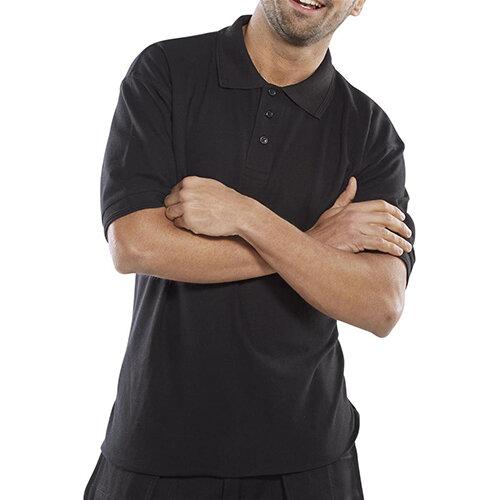 Click Premium 260gsm Polo Shirt Size M Black Ref CPPKSBLM