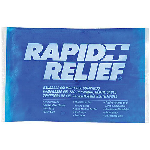 Rapid Relief Reusable Hot/Cold Gel Compress C/W Contour Gel 5in x 9in Ref RA12259