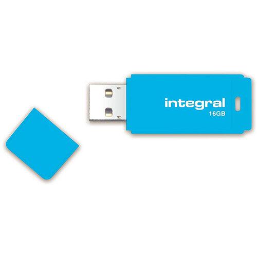Integral Neon 16GB USB Flash Drive Ref INFD16GBNEONB