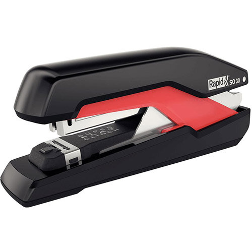 Rapid SO30 Supreme Omnipress Fullstrip Stapler Black/Red