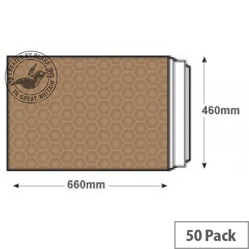 Blake Purely Packaging 660x460mm Peel and Seal Padded Envelopes Gold Pack of 50